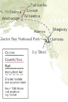 Alaska's Best of Both Worlds Cruise and Land Tour Juneau to Fairbanks or Reverse