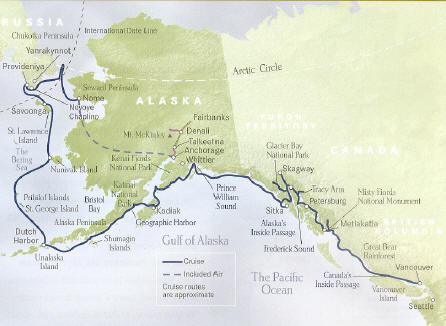 In Harriman's Wake Cruise 1b + Denali National Park Tour Itinerary for Cruise 1b Vancouver B.C. to Anchorage or Reverse Itinerary Cruise 2b